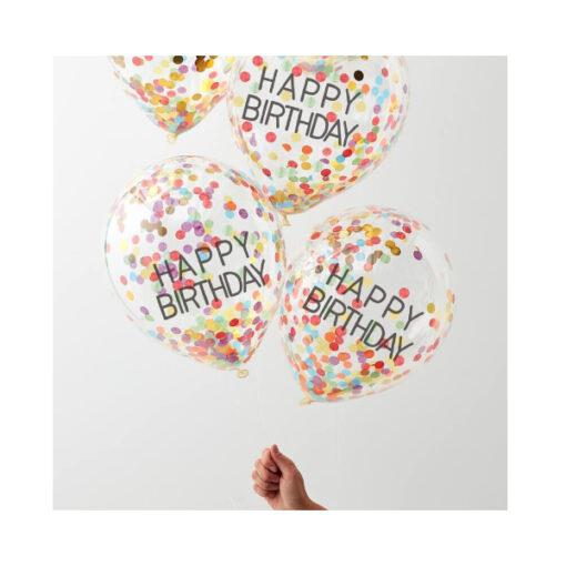 Ballon Konfetti - Happy Birthday