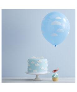 Ballon - blau mit Wolken