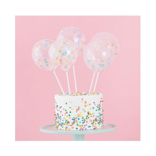 Cake Topper - Konfetti Ballons Pastell