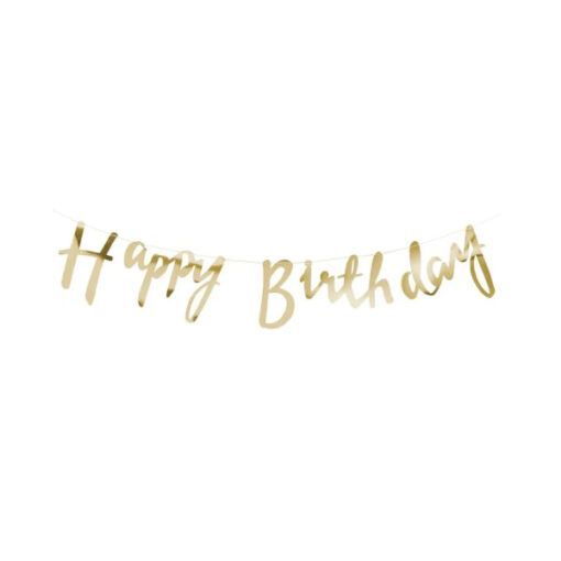 Girlande gold - Happy Birthday