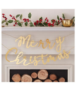 Girlande gold - Merry Christmas