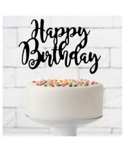 PartyDeco Cake Topper Happy Birthday