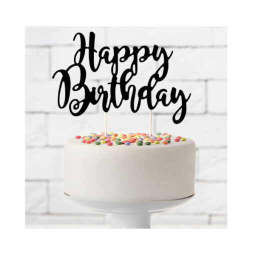 PartyDeco Cake Topper Happy Birthday