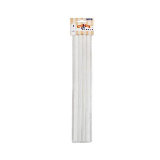 Plastik Dowels 30cm, weiss