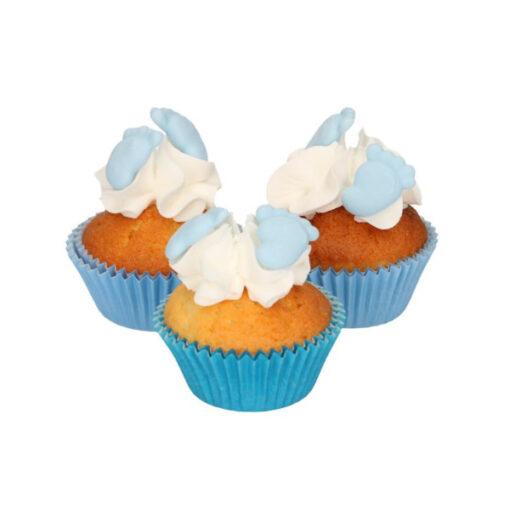 Zuckerdekor - Baby Füsse blau