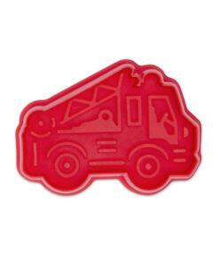 Ausstecher - Feuerwehr, rot