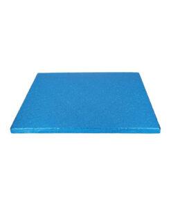 Tortenplatte - quadratisch (30cm) blau