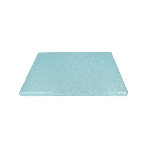 Tortenplatte - quadratisch (30cm) hellblau