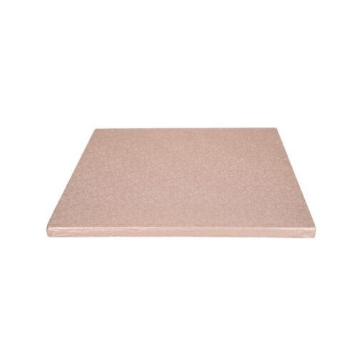 Tortenplatte - quadratisch (30cm) rosè