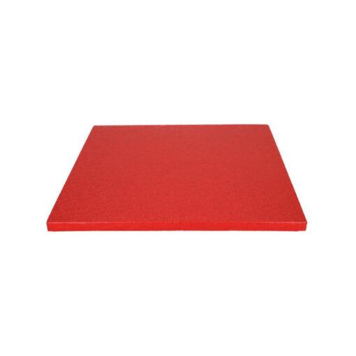 Tortenplatte - quadratisch (30cm) rot