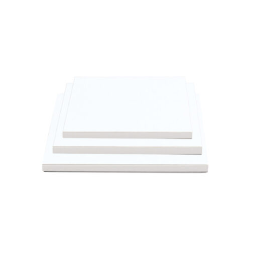 Tortenplatte - quadratisch (30cm) weiss