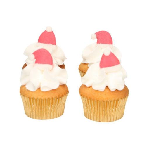 Zuckerdekor - Weihnachtsmann Mütze