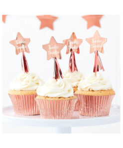 Cupcake Topper - Stern rose gold