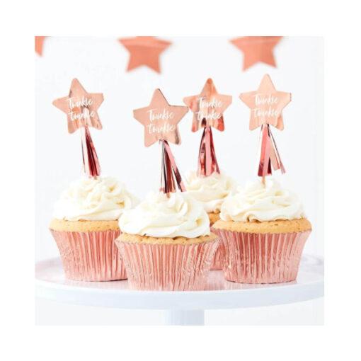 Cupcake Topper - Stern rose gold