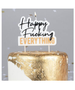 Geburtstagskerze - Happy Fucking EVERYTHING