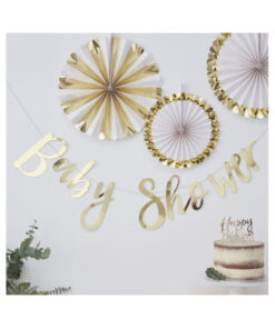 Girlande gold - Baby Shower