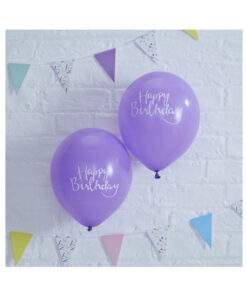Ballon lila - Happy Birthday