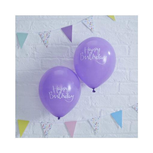 Ballon lila - Happy Birthday