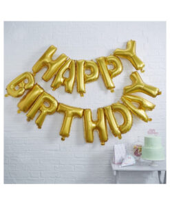 Ballon - Happy Birthday gold