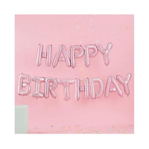 Ballon - Happy Birthday rosa