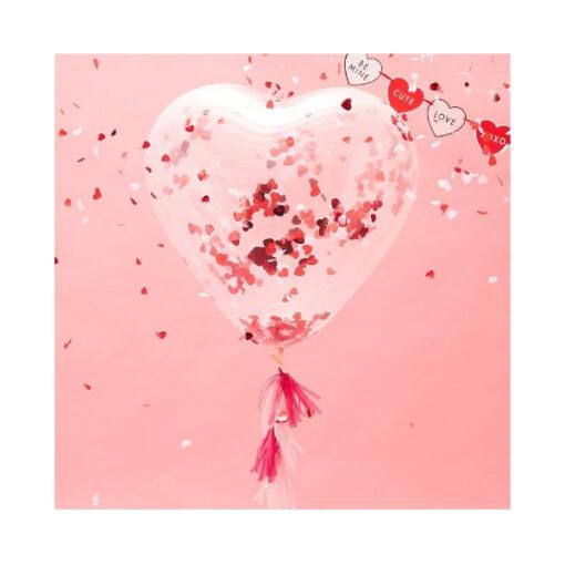 Ballon Konfetti - Herzförmig
