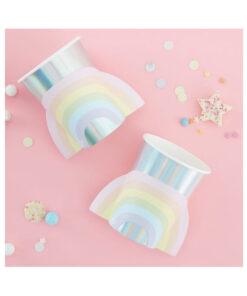 Pappbecher Pastell & Irisierend