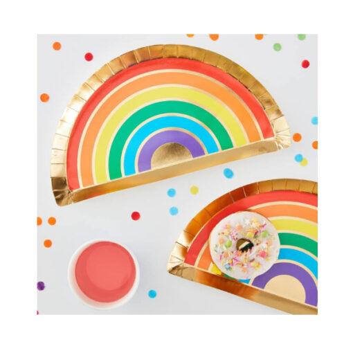 Pappteller Regenbogen