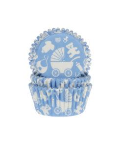 Papierbackförmchen - Baby blau