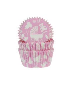 Papierbackförmchen - Baby rosa