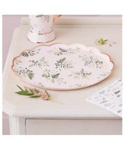 Pappteller - Blumen