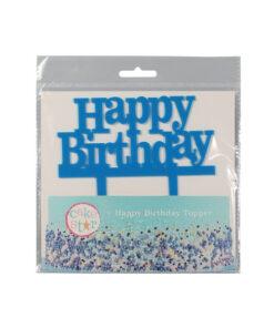 Cake Topper Happy Birthday, blau