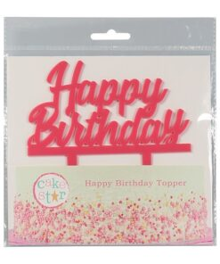 Cake Topper Happy Birthday, pink