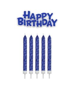 Geburtstagskerzen, blau