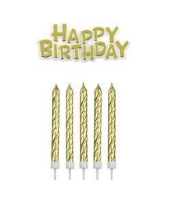 Geburtstagskerzen, gold