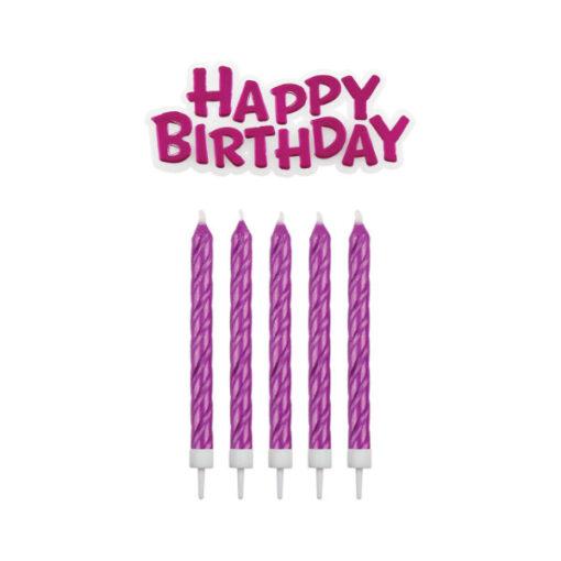 Geburtstagskerzen, pink