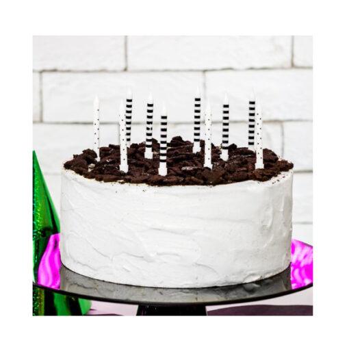 Geburtstagskerzen schwarz/weiss