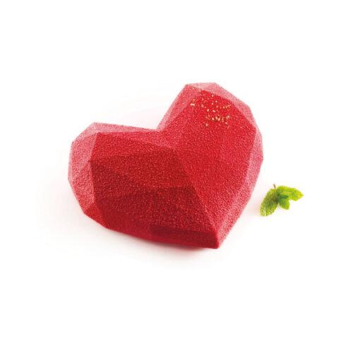 Silikonform - Backform geometrisches Herz