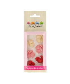 Mit diesen Marzipan - kleine Herzen von FunCakes können Sie ganz einfach ihre Torten oder Cupcakes süss verzieren. Die Packung enthält rote, rosa und weisse Herzen.