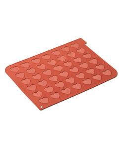 Silikomart Macarons Backmatte Herz aus Silikon
