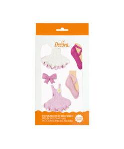 Zuckerdekor Ballerina, 5 Stück