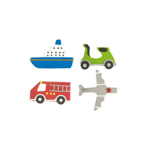 Zuckerdekor Fahrzeuge, 4 Stück
