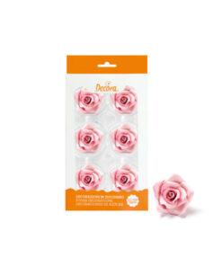Zuckerdekor grosse Rosen, rosa