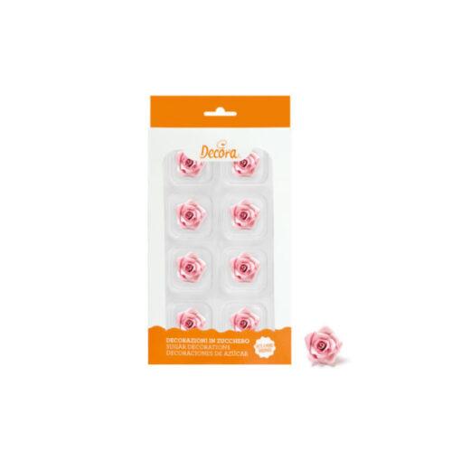 Zuckerdekor kleine Rosen, rosa