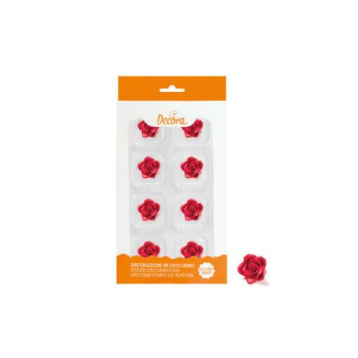 Zuckerdekor kleine Rosen, rot