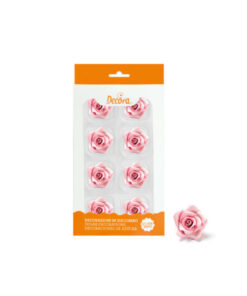 Zuckerdekor mittlere Rosen, rosa