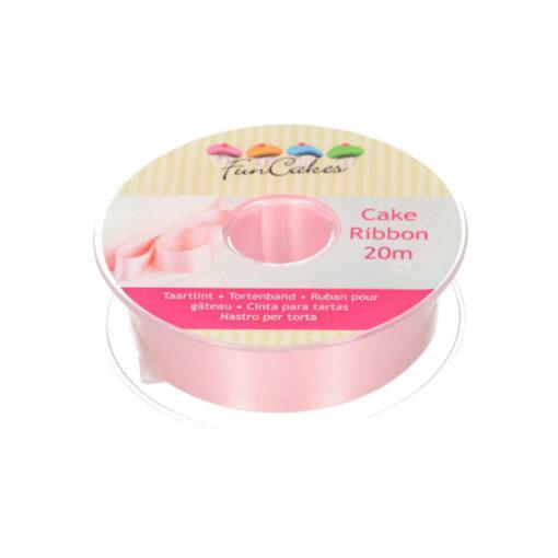 FunCakes Satinband - rosa, 25mm