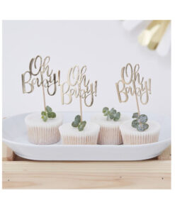 Cupcake Topper - Oh Baby