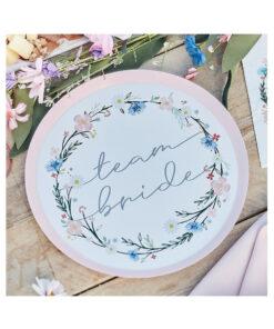 Pappteller Team Bride - Blumen
