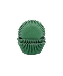 Papierbackförmchen - dunkelgrün